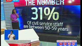 The Number: 31 Percent of civil service staff are between 50-59 years