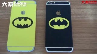 Batman cell phone decal making and applying process