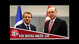 son dakika  cumhurbaşkanı erdoğan  macron ile görüştü