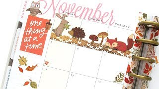 Plan With Me Monthly - November: Autumn | The Happy Planner 2017