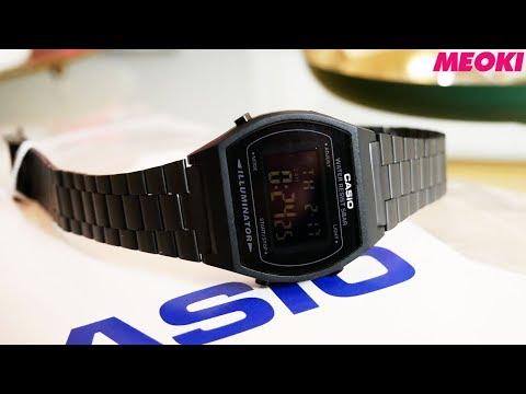 Casio Black Retro Watch (B640WB-1BEF) Unboxing