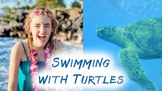 She Went Swimming with Turtles! - Ballinger Family Goes to Hawaii Day 4