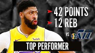 ANTHONY DAVIS 42 POINT GAME HIGHLIGHTS vs UTAH JAZZ | 2019-20 NBA Season Restart