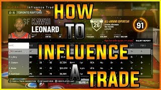 NBA 2K19 HOW TO INFLUENCE A TRADE TO MAKE A SUPER TEAM