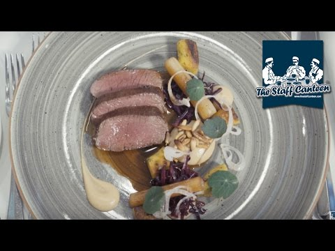 Rabbit, venison and poached pear recipes from Michelin star chef Berwyn Davies
