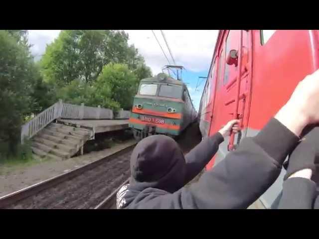 Train Surfing, Russia! 4K 30 FPS