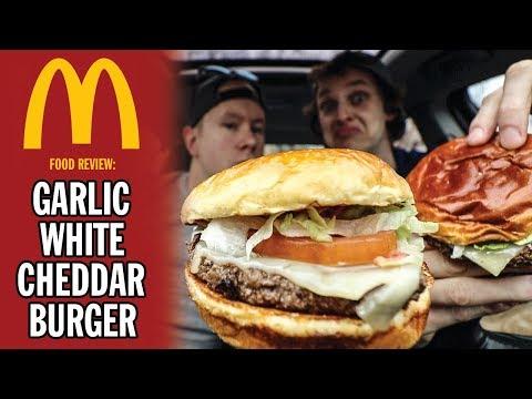 McDonald's Garlic White Cheddar Burger Food Review | Season 5, Episode 43