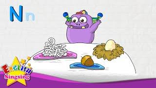 N là cho Nest, Mì, Nut - Thư N - Alphabet Song | Học tiếng Anh cho trẻ em