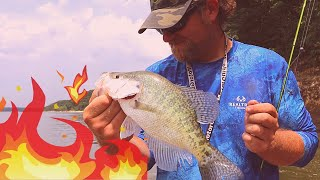 Secret For Catching TOUGH Hot Summer Crappie - How To Catch Crappie In Summer