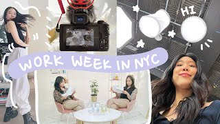 content creator's realistic work week in NYC, overcoming perfectionism | adulting diaries ep. 2