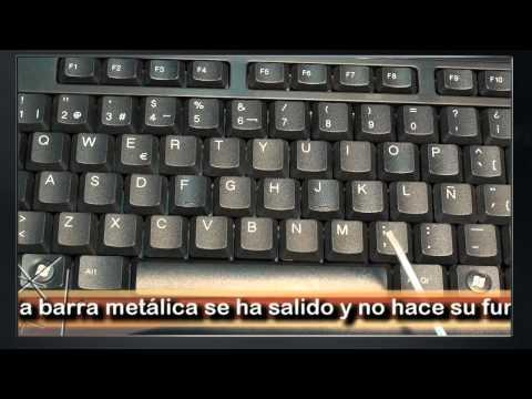 Reparar la barra espaciadora de un teclado PS/2.