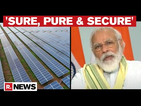 'Sure, Pure & Secure': PM Modi Inaugurates Asia's Largest 750 MW Solar Power Project In MP