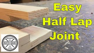 How to join two pieces of wood at the corner/ using a Half Lap Joint