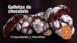 Galletas de Chocolate craqueladas o cuarteadas - Muy faciles - Recetas Explosivas