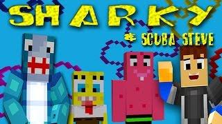 Minecraft Adventures : Sharky & Scuba Steve - BIKINI BOTTOM!!