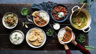 Delicious curries » 3 recipes + homemade naan