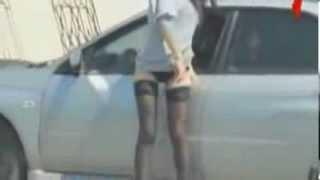 Girl and tinted window