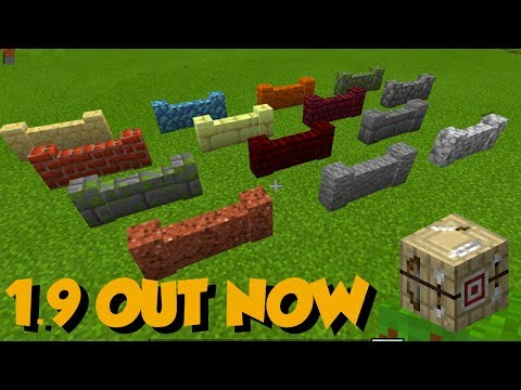 Minecraft 1.9 - BUILDERS UPDATE Out Now! ALL New Features