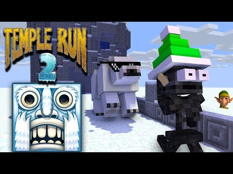 Monster School : TEMPLE RUN FROZEN FESTIVAL CHALLENGE - Minecraft animation
