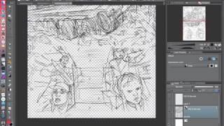 Comic panels in Clip Studio Paint