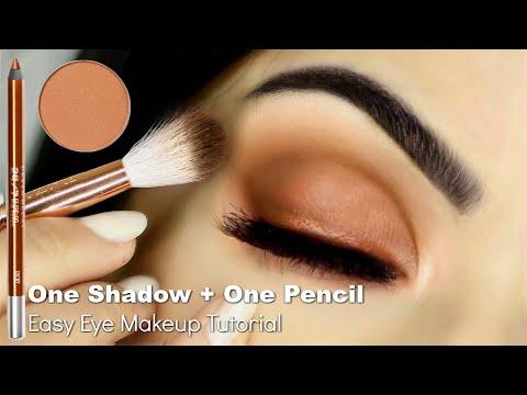 Beginners Eye Makeup Tutorial Using One Eyeshadow + Eyeliner Pencil | How To Apply Eyeshadow