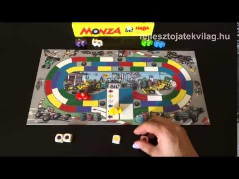 Haba Monza játékszabály, versenyautós, színdobókockás, taktikai társasjáték, 3-99 év - Fejlesztő Játék Világ
