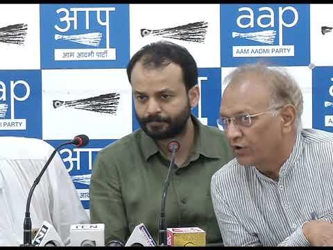 AAP Leader Ashish Khetan & Rajasthan Prabhari Deepk Bajpai , Farmer Leaders Breifs media