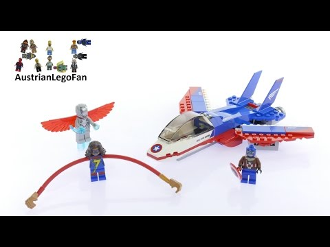 Vidéo LEGO Marvel Super Heroes 76076 : La poursuite en avion de Captain America