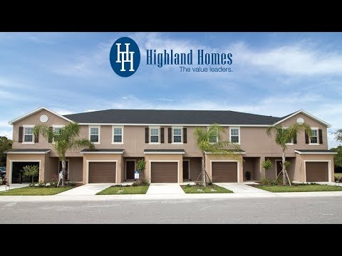 Bailey townhome by Highland Homes - Sarasota New Homes for Sale