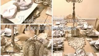 Thanksgiving Tablescape | Homegoods, Pier 1, Z gallerie Decor