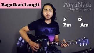 Chord Gampang (Bagaikan Langit - Potret) By Arya Nara (Tutorial Gitar) Untuk Pemula