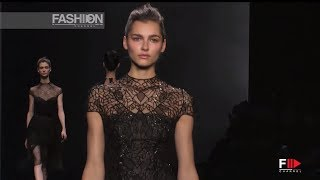 """""""MONIQUE LHUILLIER"""" New York Fashion Week Fall Winter 2014 2015 by Fashion Channel"""