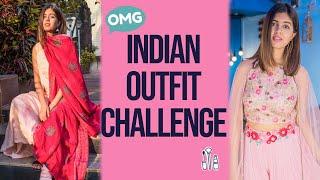 I Wear INDIAN (also Indo-WESTERN) For A Week!   Festive Season Looks   Sejal Kumar