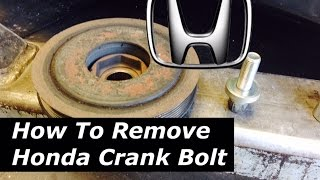 DIY: Honda / Acura: Crankshaft Bolt Removal - Tips & Tricks - Bundys Garage