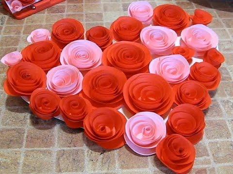 ХендМейд - Сердце из бумажных роз своими руками