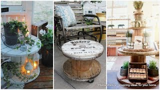 Wood Electrical Spool TABLE Creative Design Ideas 2020 - Table