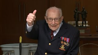 video: Captain Tom Moore becomes a Colonel as MoD announces honorary promotion on 100th birthday