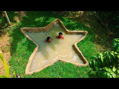 Build Mini Underground Star Swimming Pool