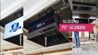 "Sliding Mechanism - Cube Mechanism Four 75"" TV Screen - B Secure"