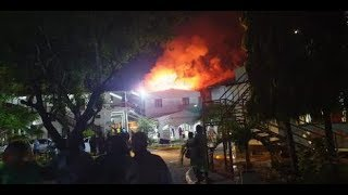 Mombasa hospital fire started shortly after 9 PM, cause of fire still unkown