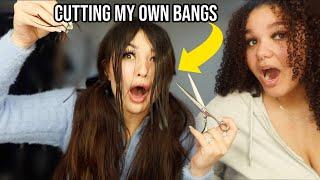 Cutting My Own Bangs | *Funny AF*