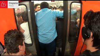Mexicanos pierden horas a la semana en el caótico metro del DF