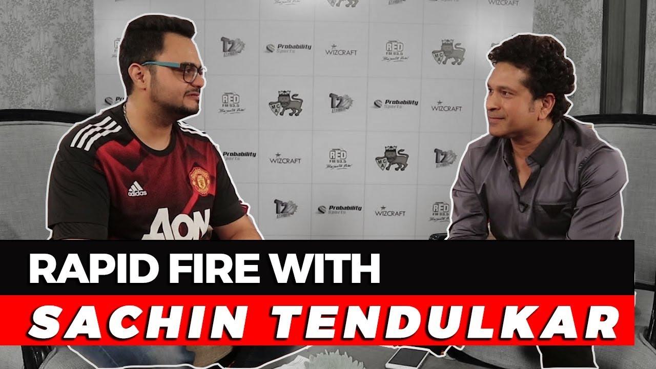 Rapid Fire With Sachin Tendulkar