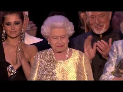 Ein Rückblick: The Queen's Diamond Jubilee Concert finale & speech   4th June 2012