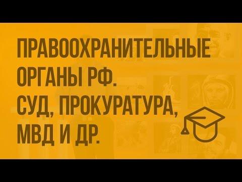Правоохранительные органы РФ. Суд и прокуратура, МВД и др. Видеоурок по обществознанию 7 класс