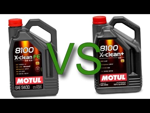 Motul 8100 X-Clean FE 5W30 vs Motul 8100 X-Clean+ 5W30 test
