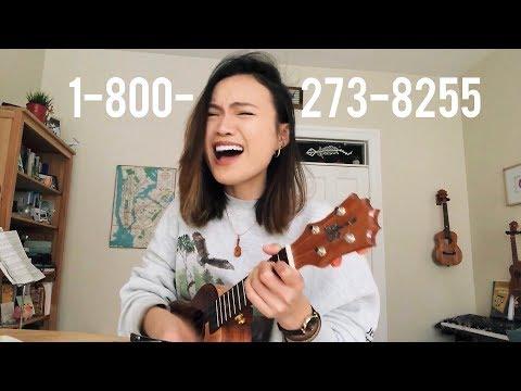 1-800-273-8255 (uke + lyric video!)