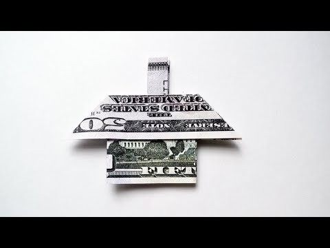 Money HOUSE Origami One Dollar Tutorial DIY Folding Gift For Housewarming