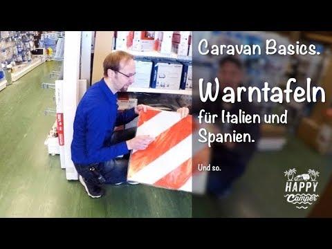 HAPPY CAMPING | Warntafel für Italien & Spanien