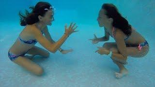 Carla Underwater having fun at the pool